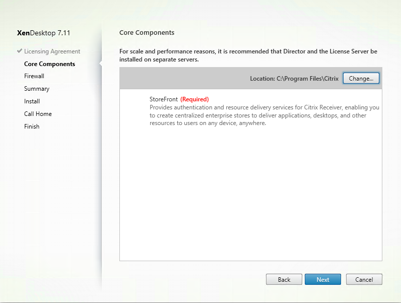 Install and configure Citrix StoreFront 3 7, including