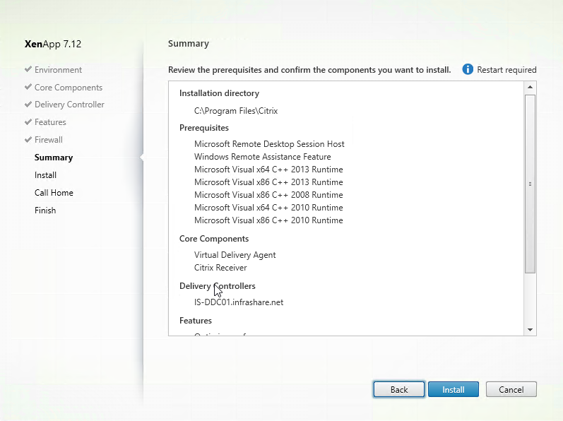 Install and configure Citrix XenApp 7 12, including Windows Server
