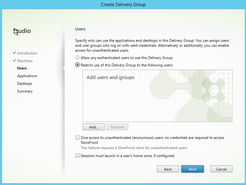 Install and configure Citrix XenApp 7 12, including Windows
