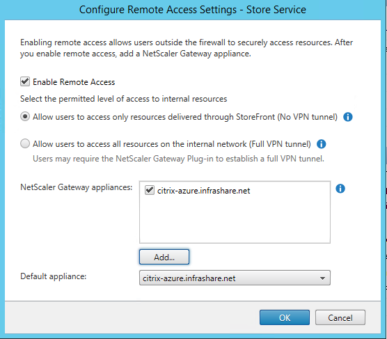 Setup and configure a NetScaler 11 1 VPX in Microsoft Azure