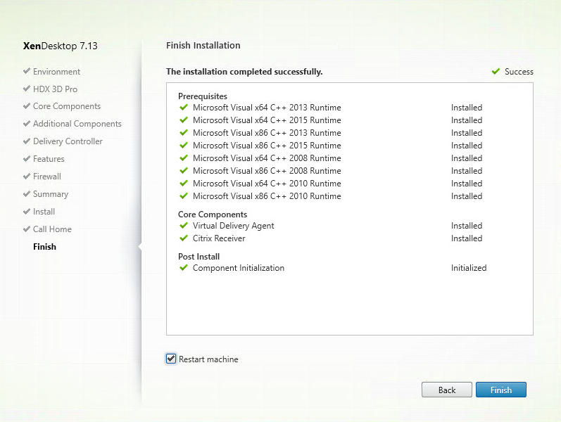Install and Configure XenDesktop 7 13, including Windows 10