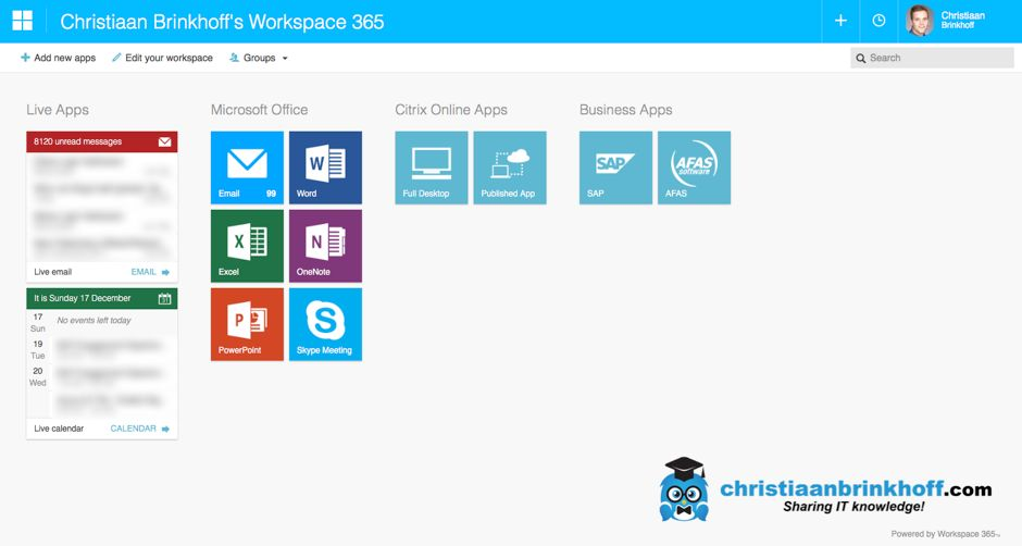 Configure Workspace 365 to use Office 365 and Citrix Virtual