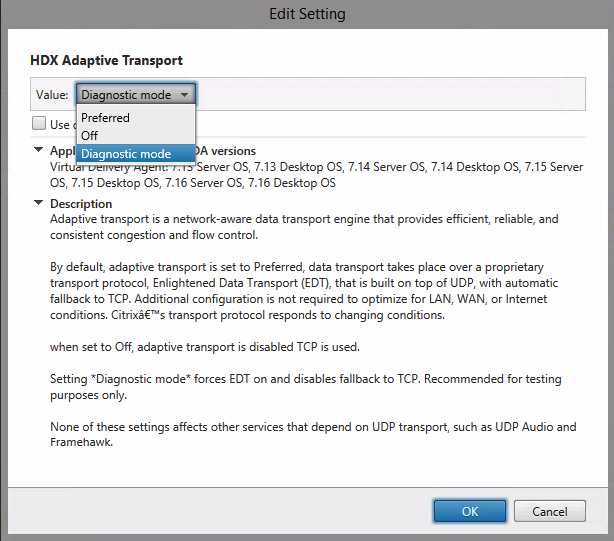 Configure the Enlightened Data Transport UDP Protocol (EDT