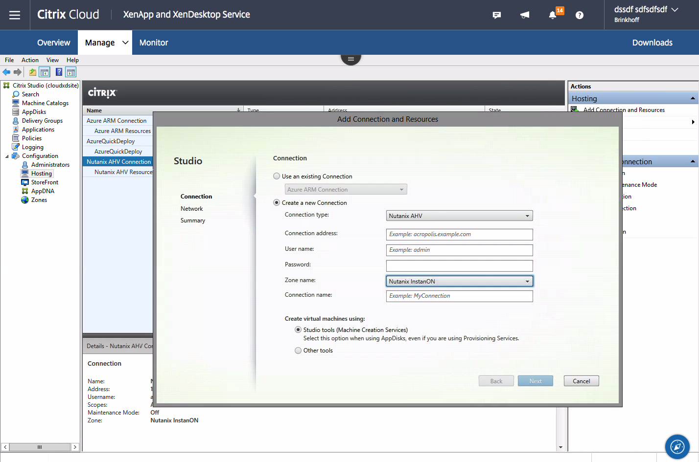 Using Citrix Cloud Virtual Apps and Desktops with Nutanix