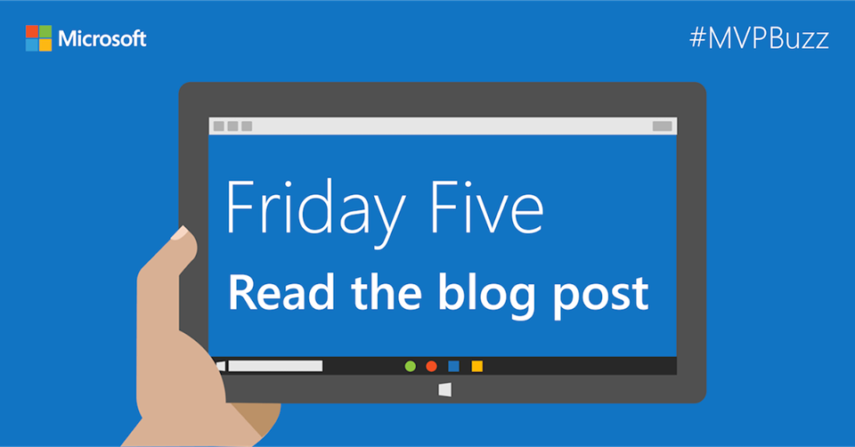Happy to see my Microsoft/FSLogix Profile Container walkthrough article listed as part of this week's Friday Five on the Microsoft MVP Award Program Blog