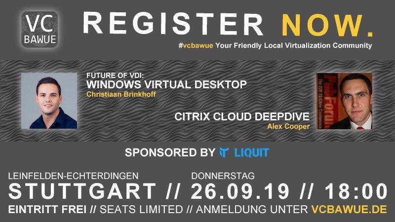 Virtualization Community BAWUE – Stuttgart, Germany