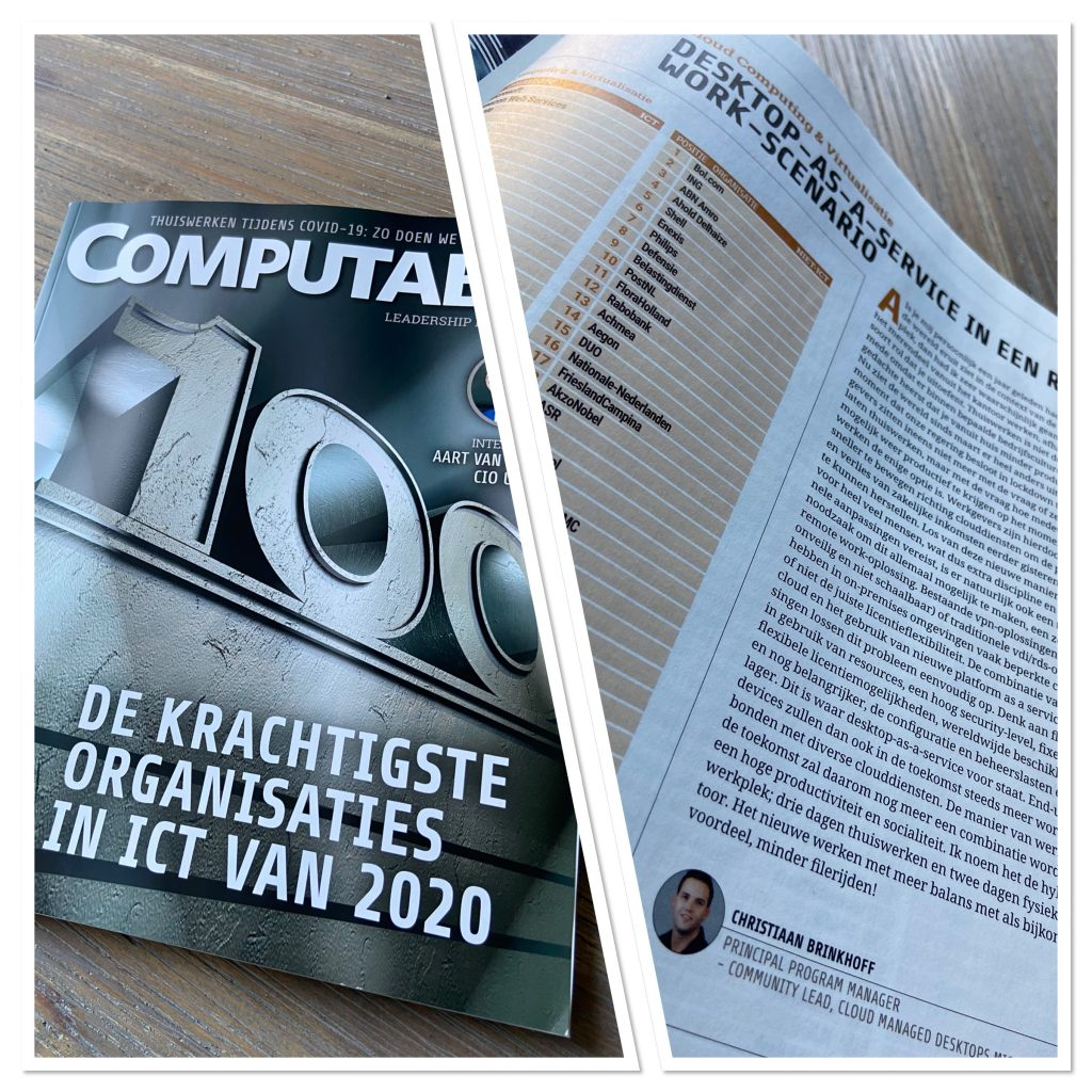 Authored Desktops-as-a-Service in een Remote work-scenario – Dutch Computable Magazine #1 – 2021