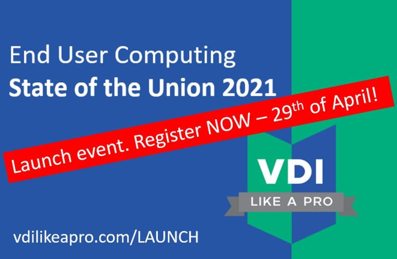 VDI Like a Pro – Launch event