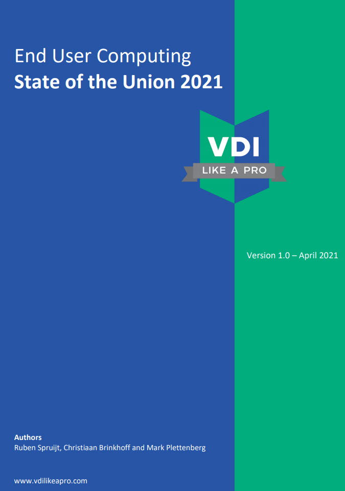 #VDILIKEAPRO – 2021 survey