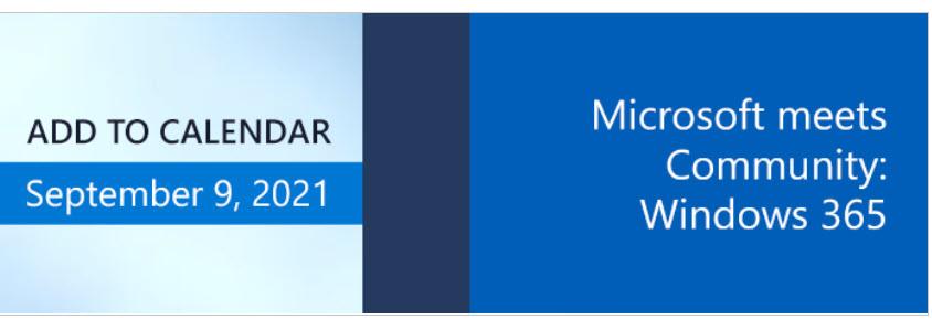 Microsoft meets Community: Windows 365